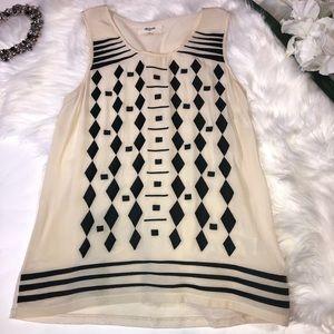 Madewell Sleeveless Black & White Tank XS